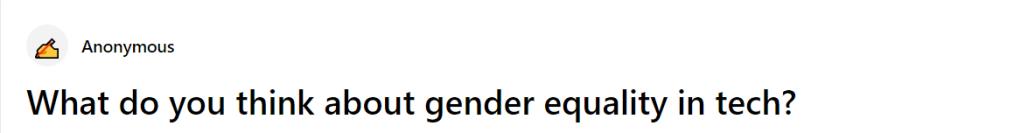 gender in tech